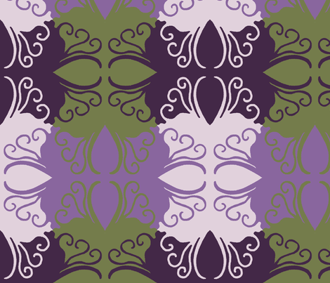 Purple_Cutwork fabric by cksstudio80 on Spoonflower - custom fabric
