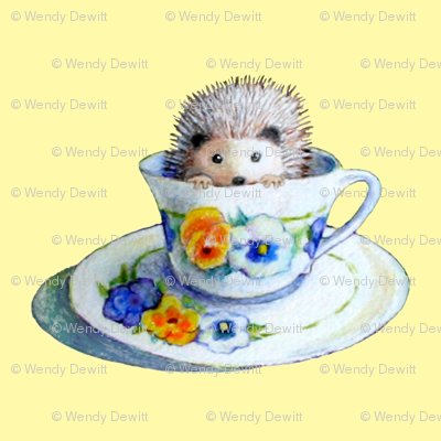 Hedgehog Tea In Yellow