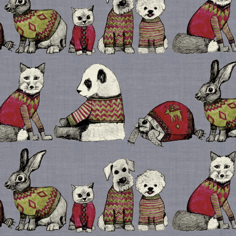 vintage chums small fabric by scrummy on Spoonflower - custom fabric