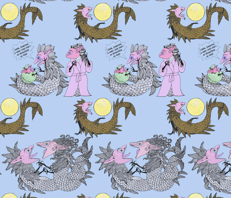 Tatzelwurm Chronicles fabric by eva_the_hun on Spoonflower - custom fabric