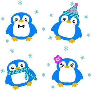 Winter Baby Penguins! - © PinkSodaPop 4ComputerHeaven.com