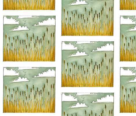 Fields fabric by taraput on Spoonflower - custom fabric