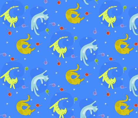 newsleepingkitties fabric by meredith_downs on Spoonflower - custom fabric