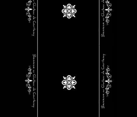 Chateau - B/W Runner fabric by paragonstudios on Spoonflower - custom fabric