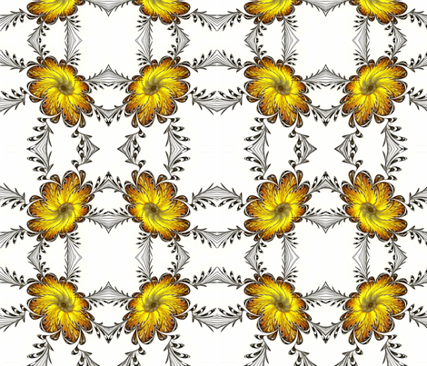 The Emperor's Marigolds fabric by winter on Spoonflower - custom fabric