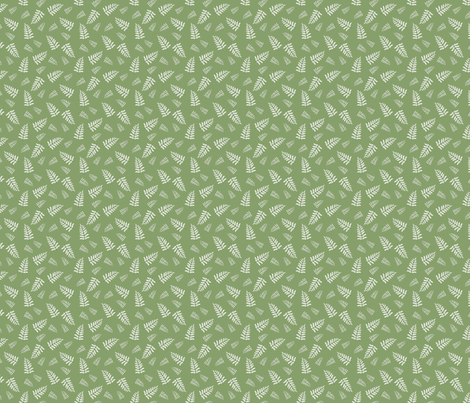 white leaves fabric by danielbingham on Spoonflower - custom fabric