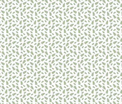 green leaves fabric by danielbingham on Spoonflower - custom fabric