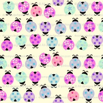 Lady Bug Fashionistas! - Pastels - © PinkSodaPop 4ComputerHeaven.com