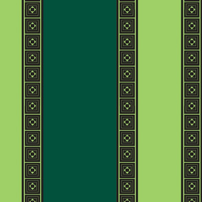Two Green Stripe