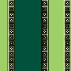Two Green Stripe
