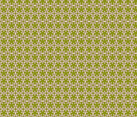 Green Quintefoil fabric by butterwort on Spoonflower - custom fabric
