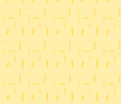 African Proverbs-Yellow-183 fabric by kkitwana on Spoonflower - custom fabric