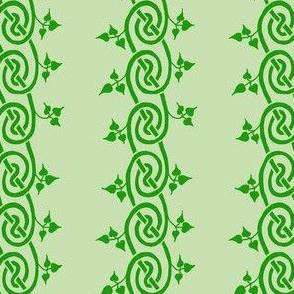 celtic ivy border green