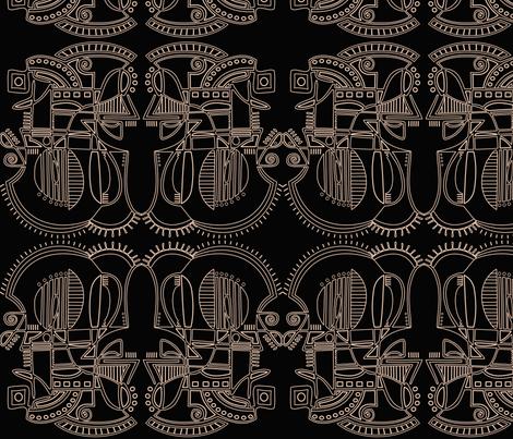 Music fabric by kristenstein on Spoonflower - custom fabric