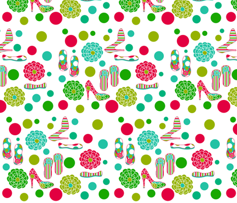 Girls Love Shoes fabric by eedeedesignstudios on Spoonflower - custom fabric