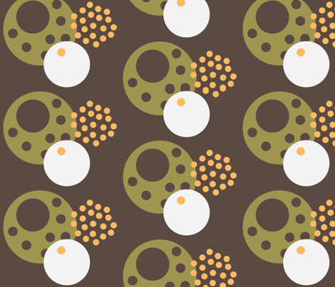 Eggdots chocolate Brown fabric by dolphinandcondor on Spoonflower - custom fabric