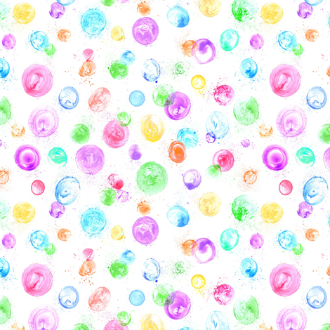 tiny bubbles on white fabric by weavingmajor on Spoonflower - custom fabric