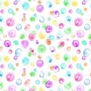 tiny bubbles on white