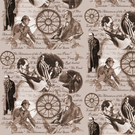 The Great Detective fabric by marchhare on Spoonflower - custom fabric