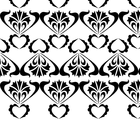 black and white no. 04 fabric by eva_krasilni_razbor on Spoonflower - custom fabric