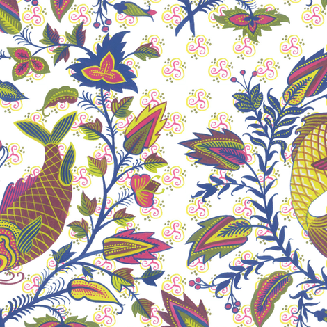 pair-o-fish-1021 fabric by eva_the_hun on Spoonflower - custom fabric