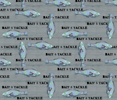 Bait and Tackle - fish pattern 7 fabric by vickijenkinsart on Spoonflower - custom fabric
