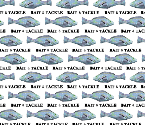 Bait and Tackle - fish pattern 6 fabric by vickijenkinsart on Spoonflower - custom fabric