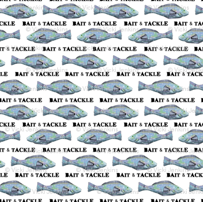 Bait and Tackle - fish pattern 5 small repeat