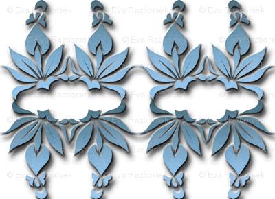 blue ornamental blossoms