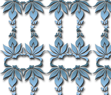 blue ornamental blossoms fabric by eva_krasilni_razbor on Spoonflower - custom fabric