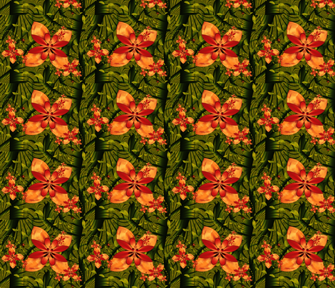 Jungle Blooms fabric by winter on Spoonflower - custom fabric