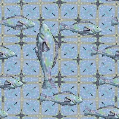 Bait and Tackle - fish pattern 2