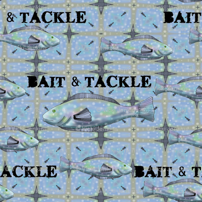 Bait and Tackle - fish pattern 1