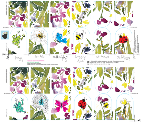 C'EST LA VIV Garden Party new fabric by cest_la_viv on Spoonflower - custom fabric