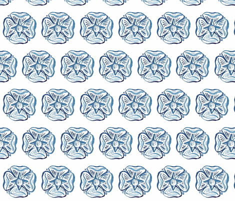 C'EST LA VIV Circles and Squares Collection_BLUE ROSETTE  fabric by cest_la_viv on Spoonflower - custom fabric