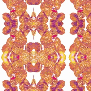 Orange Orchid Mosaic