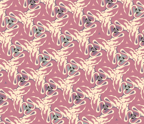 RetroSwan fabric by vertuta on Spoonflower - custom fabric