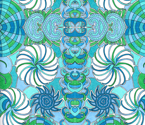 Ocean Of Blues fabric by societydeb on Spoonflower - custom fabric