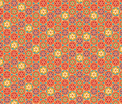 floral burst  fabric by mandyh on Spoonflower - custom fabric