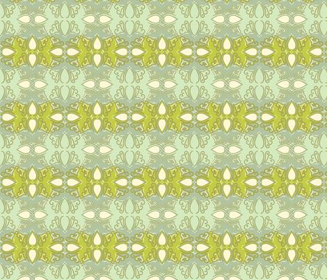 Tessellating_Cutwork_Beach_Blue_Grn_Color_Chng fabric by cksstudio80 on Spoonflower - custom fabric
