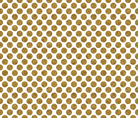 Glitter Dot Gold fabric by cynthiafrenette on Spoonflower - custom fabric