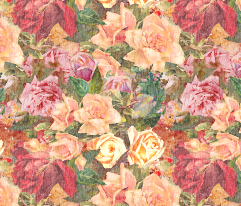 Weathered Roses fabric by dentednj on Spoonflower - custom fabric