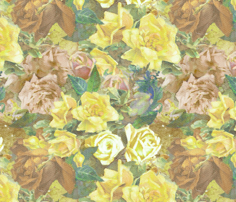 Retro Rose Mix fabric by dentednj on Spoonflower - custom fabric