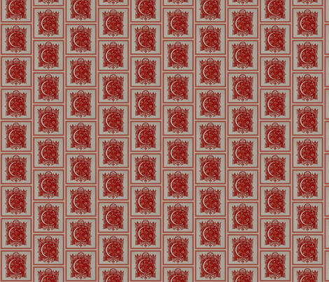 RED Crest HD repeat fabric by paragonstudios on Spoonflower - custom fabric