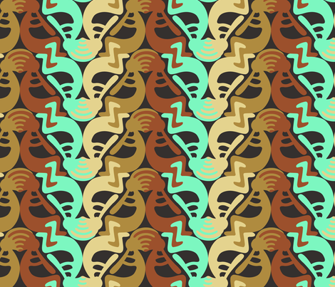 Kokopelli_tessellation fabric by andrea11 on Spoonflower - custom fabric