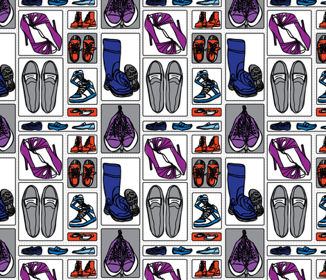 favoriteshoes fabric by circlesandsticks on Spoonflower - custom fabric