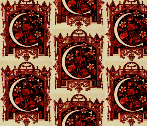 RED / BK Crest HD repeat fabric by paragonstudios on Spoonflower - custom fabric