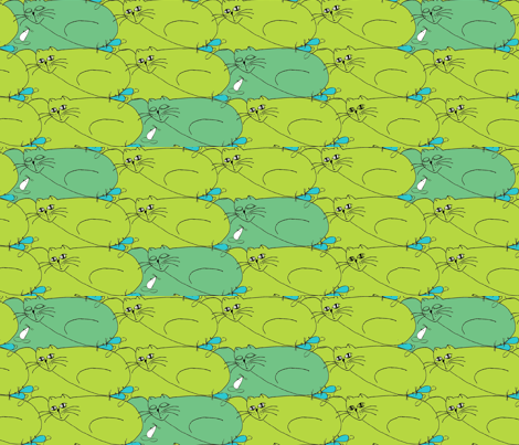 kot_mysz fabric by a_m on Spoonflower - custom fabric