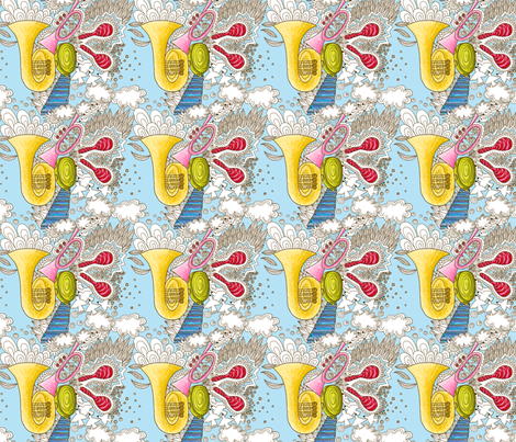 musique celeste s fabric by nadja_petremand on Spoonflower - custom fabric