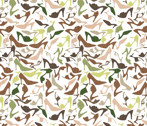 a shoe shower fabric by mandyh on Spoonflower - custom fabric